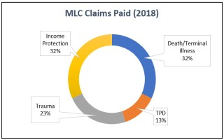2018 MLC Insurance Claims Statistics Graph