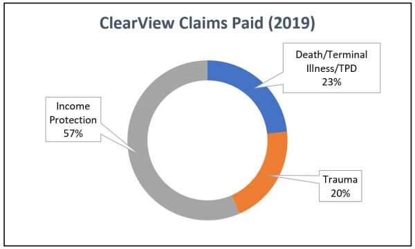 2019 ClearView Insurance Claims Statistics Graph